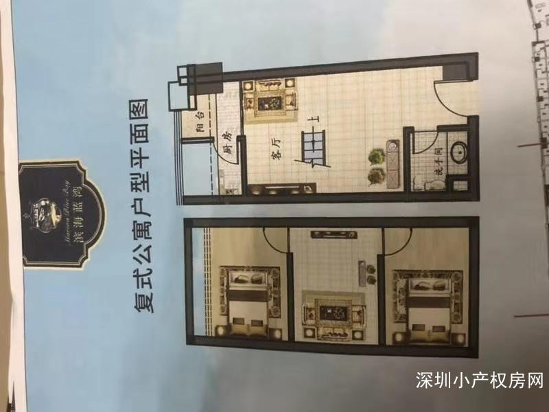 东莞小产权《滨海蓝湾》滨海新区5栋花园房,平层复式房在售,封闭式小区房